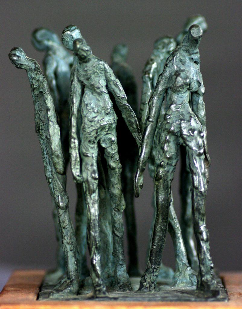 Foule sculpture en bronze de Philippe Doberset