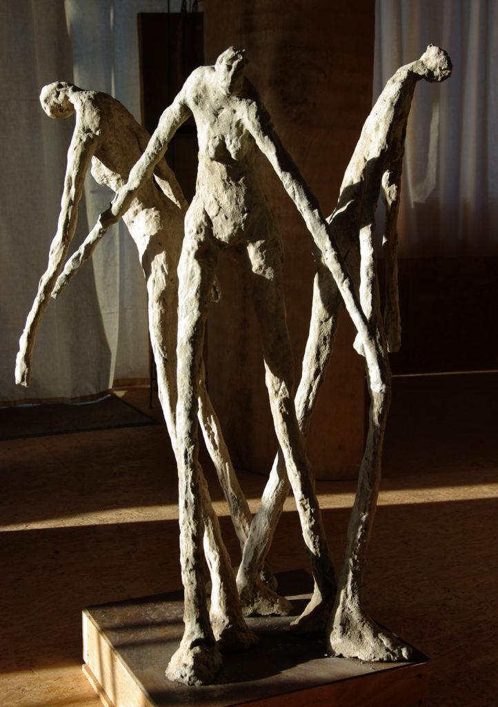 Les trois grâces sculpture en béton armé Philippe Doberset