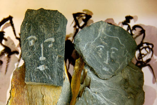 Le roi et la reine sculpture de Philippe Doberset