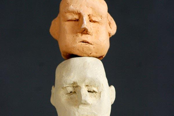Totem sculpture Philippe Doberset