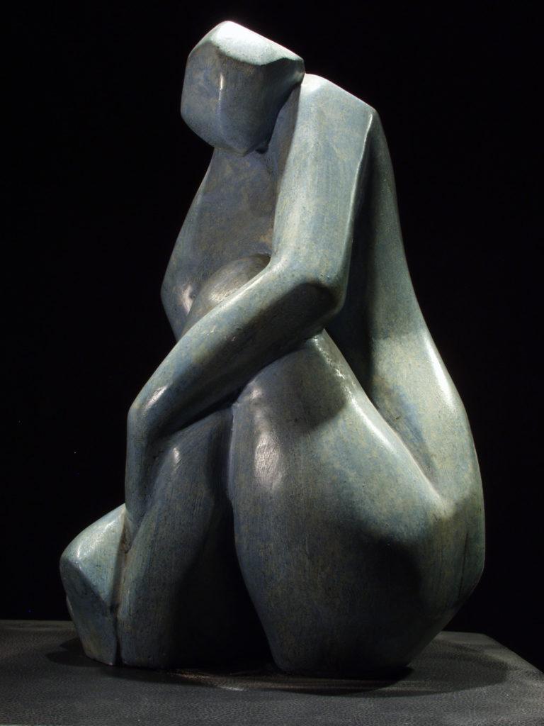 La dame bleue sculpture plâtre de Philippe Doberset