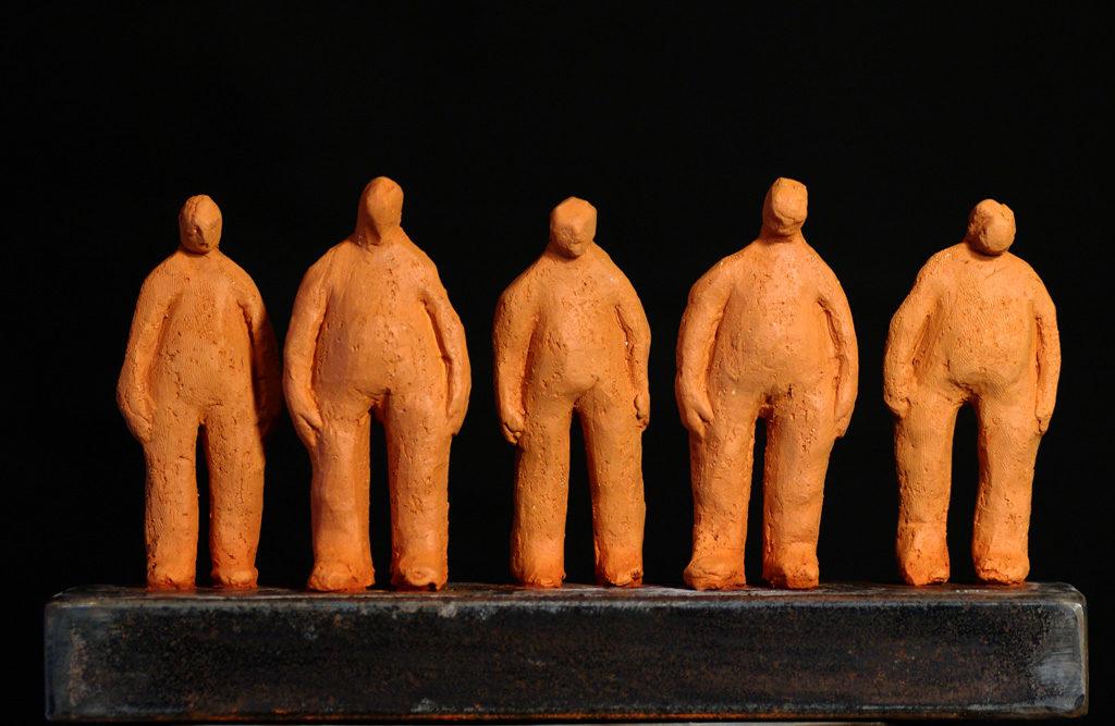 les amis sculpture de Philippe Doberset