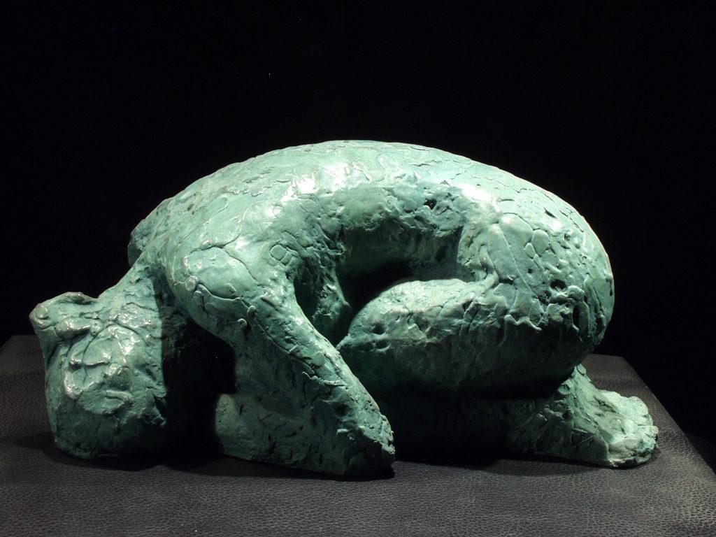 Nu couché sculpture en bronze de Philippe Doberset