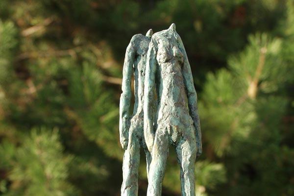 Couple sculture en bronze de Philippe Doberset
