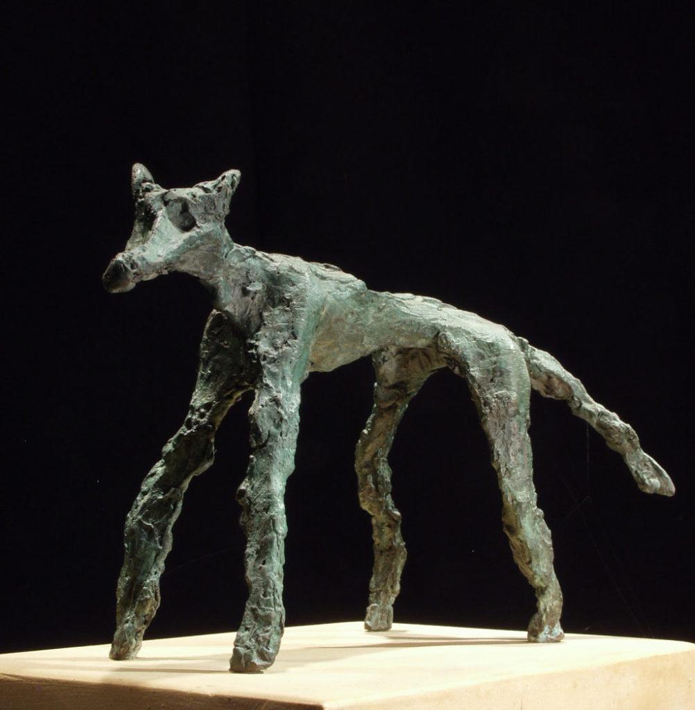 le loup sculpture en bronze Philippe Doberset
