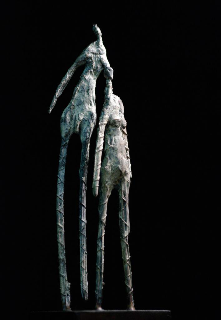 les deux frères sculpture de Philippe Doberset