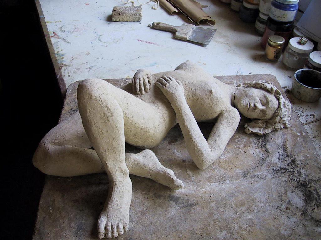 Nu à l'atelier sculpture de Philippe Doberset