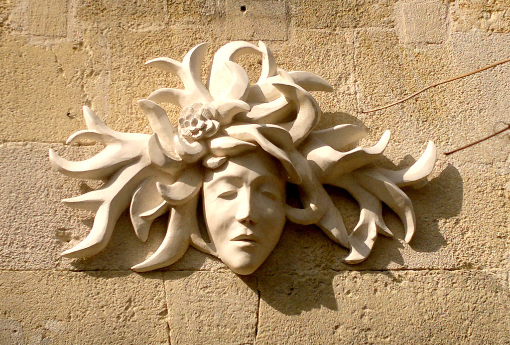 Mascaron sculpture de Philippe Doberset