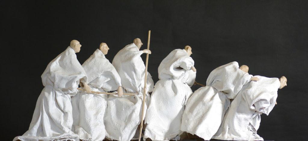 La parabole des aveugles sculpture de Philippe Doberset
