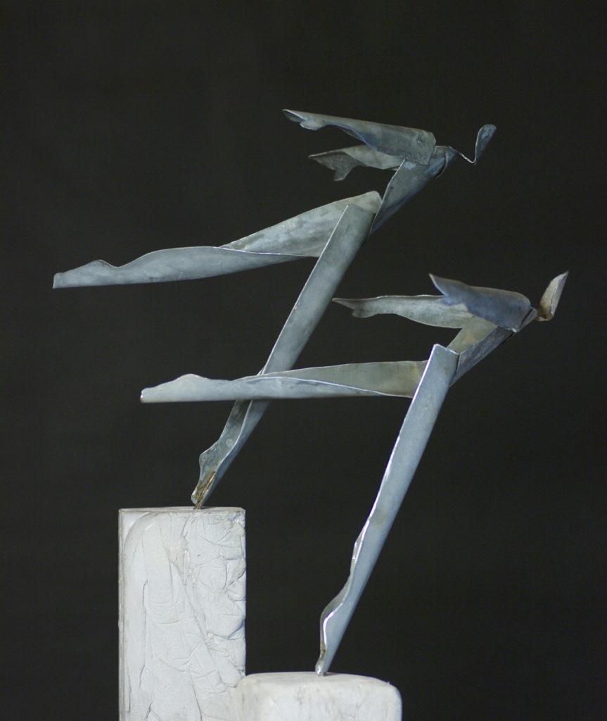 Envol à deux sculpture de Philippe Doberset