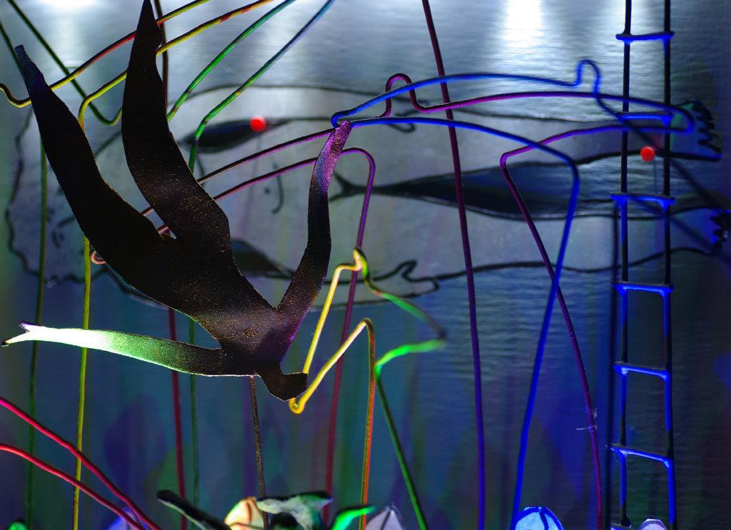 La chute d'Icare sculpture de Philippe Doberset