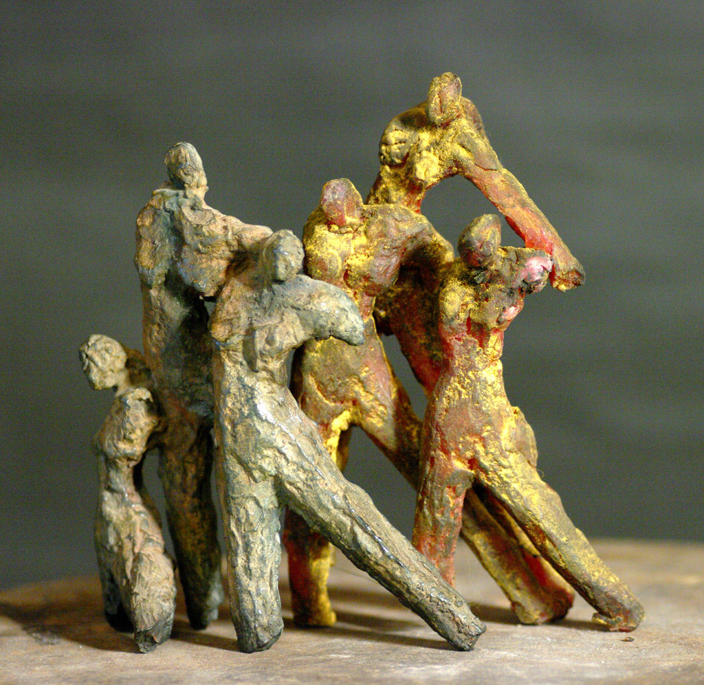 Les bourgeoises sculpture en bronze de Philippe Doberset