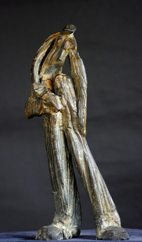 L'homme de boue Sculpture en bronze  de Philippe Doberset