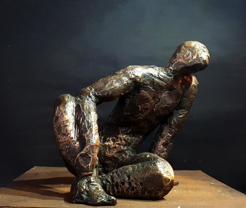 Narcisse sculpture en bronze de Philippe Doberset