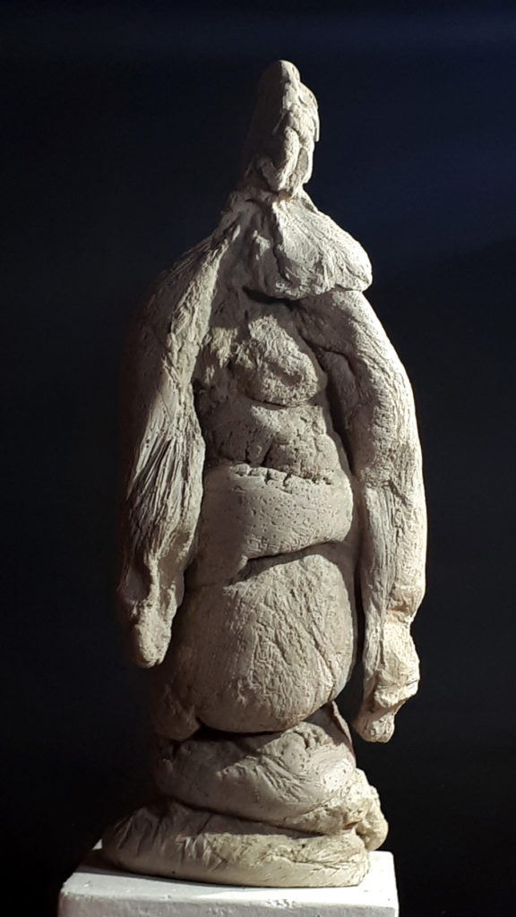Ometto sculpure en ciment de Philippe Doberset