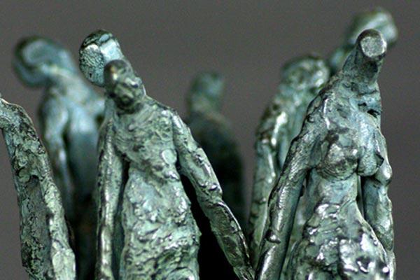 Foule sculpture de Philippe Doberset