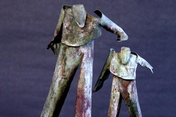 Suzyy et le galopin sculpture de Philippe Doberset