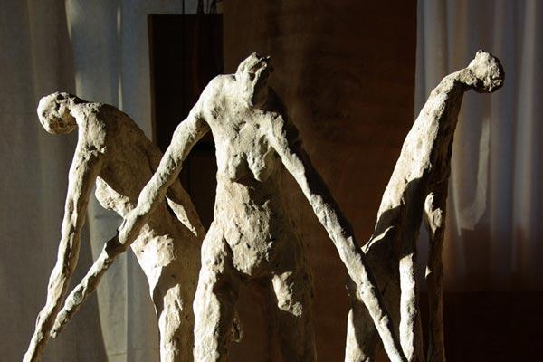 Les trois grâces sculpture de Philippe Doberset